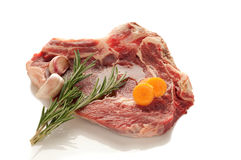 wołowiny stku biel Obrazy Stock