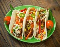 Wołowiny taco na talerzu Obrazy Royalty Free