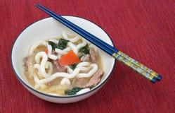 Wołowiny Udon zdjęcie stock