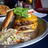 Woah бургер стоковое изображение