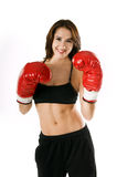 Woamn Boxer. Woman Boxer Royalty Free Stock Images