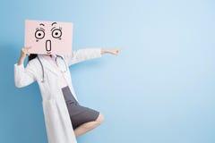 Woamn doctor take billboard Stock Photography