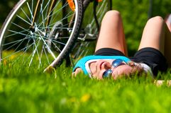 Woan and her bike Royalty Free Stock Images