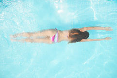 Woan in pool royalty free stock photos