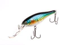 Приманка для рыболовства - wobbler на белизне Стоковые Изображения