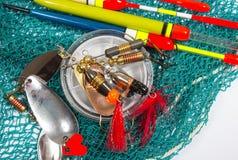 Wobbler, flotadores y accesorios de la pesca Fotografía de archivo libre de regalías