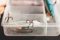 Wobbler pour pêcher sur le fond blanc Photographie stock libre de droits