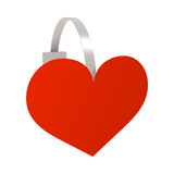 Wobbler red heart Royalty Free Stock Image