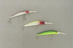 Wobbler três para a pesca Imagens de Stock
