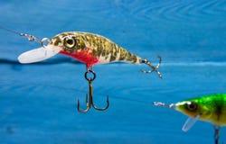 Wobblers faits main Amorce de rotation pour la pêche Photos libres de droits