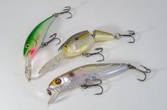 Wobblers para los pescados depredadores Imagen de archivo libre de regalías