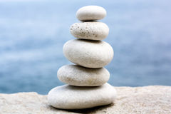 Wobbly Stone Tower Royalty Free Stock Images