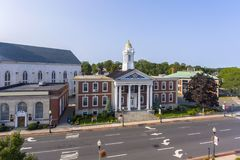 WoburnRathaus, Massachusetts, USA Stockbilder