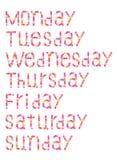 Woche vektor abbildung