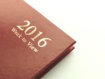 Woche des Rotes 2016, zum des Tagebuchs anzusehen Lizenzfreies Stockfoto