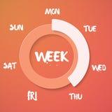 Wochen-Laden-Vektor-Illustration Vektor-Wochenenden-Count-down Backg lizenzfreie abbildung