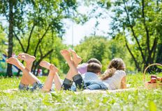 Wochenende im Park Stockbild