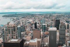 Wochenende in Seattle - Himmel-Ansicht-Observatorium in Kolumbien-Mitte lizenzfreie stockfotos