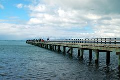 Wochenendenfischerversammlung auf Cornwallis-Kai Lizenzfreie Stockfotos