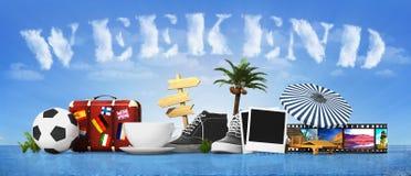 Wochenendenkonzept Lizenzfreies Stockfoto