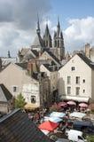 Wochenmarkt Blois Frankreich Lizenzfreie Stockfotos