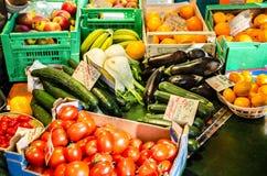 Wochenmarkt, Straßenmarkt in Deutschland Lizenzfreie Stockfotografie
