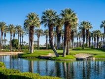 Wod cechy przy polem golfowym przy JW Marriott Dezerterują wiosny obrazy stock