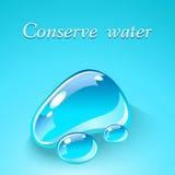 Wod krople. Ekologiczny tematu pojęcie. Obrazy Stock