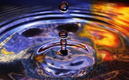 Wod krople i czochry Zdjęcie Stock