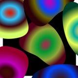 Wod krople różni kolory ilustracja wektor
