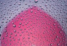 Wod krople z odbiciem sercowatym Fotografia Stock