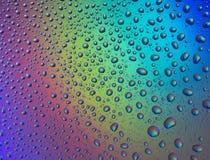Wod krople z odbiciem tęcza Fotografia Stock