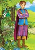 Woda życie kasztele ilustracja dla dzieci - książe lub princess - rycerze i czarodziejki - Fotografia Stock