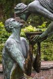 Woda życie rzeźba przy Chester katedrą obraz royalty free