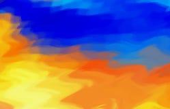 Woda i ogień ilustracja wektor