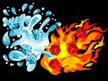 Woda i ogień royalty ilustracja