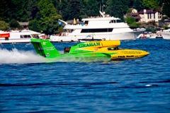 woda jest nieograniczony wyścig łodzi Obraz Royalty Free