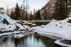 Woda, lód i spokój, Fotografia Stock
