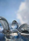 Woda makro- krople Fotografia Stock