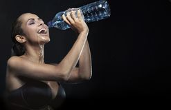woda mineralna Zdjęcia Royalty Free