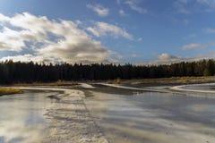 Woda na lodzie Fotografia Royalty Free