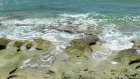 Woda na skałach Zdjęcia Royalty Free