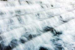 Woda nad schodkami Zdjęcie Stock