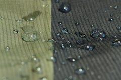 Woda odpędza tekstylnego materiał Zdjęcia Royalty Free