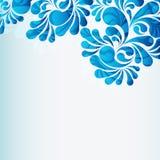 Woda opuszcza błękitnego tło, wektorowy desing element royalty ilustracja