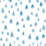 Woda Opuszcza Bezszwowego wzór Raindrop tło Podeszczowa tekstura Obraz Royalty Free