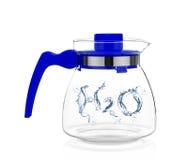 Woda opuszcza H2O kształtującego Obraz Royalty Free
