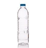Woda pitna w jasnej plastikowej butelce Studio strzelający odizolowywającym dalej Obraz Stock