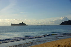 Woda podołki na Waimanalo plaży Zdjęcia Royalty Free