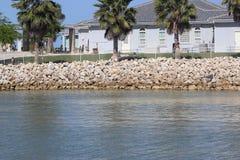 Woda przy portowym Aransas zdjęcie stock
